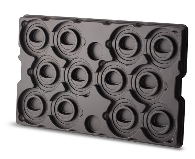 Thermoformed dunnage tray
