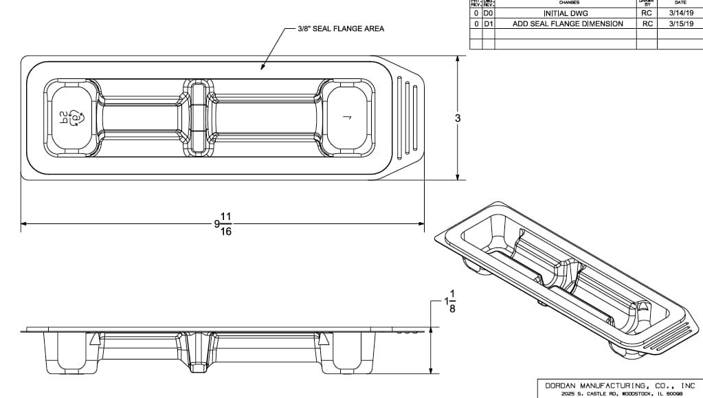 Medical tray packaging engineering