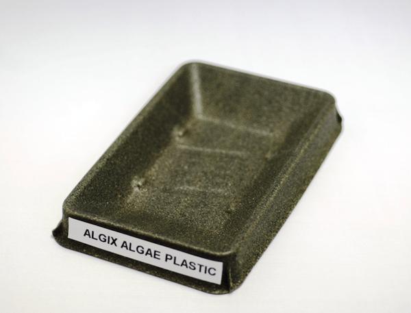 thermoformed algae plastic
