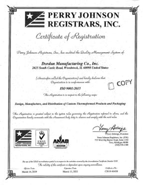 Download Dordan's ISO 9001:2015 certificate