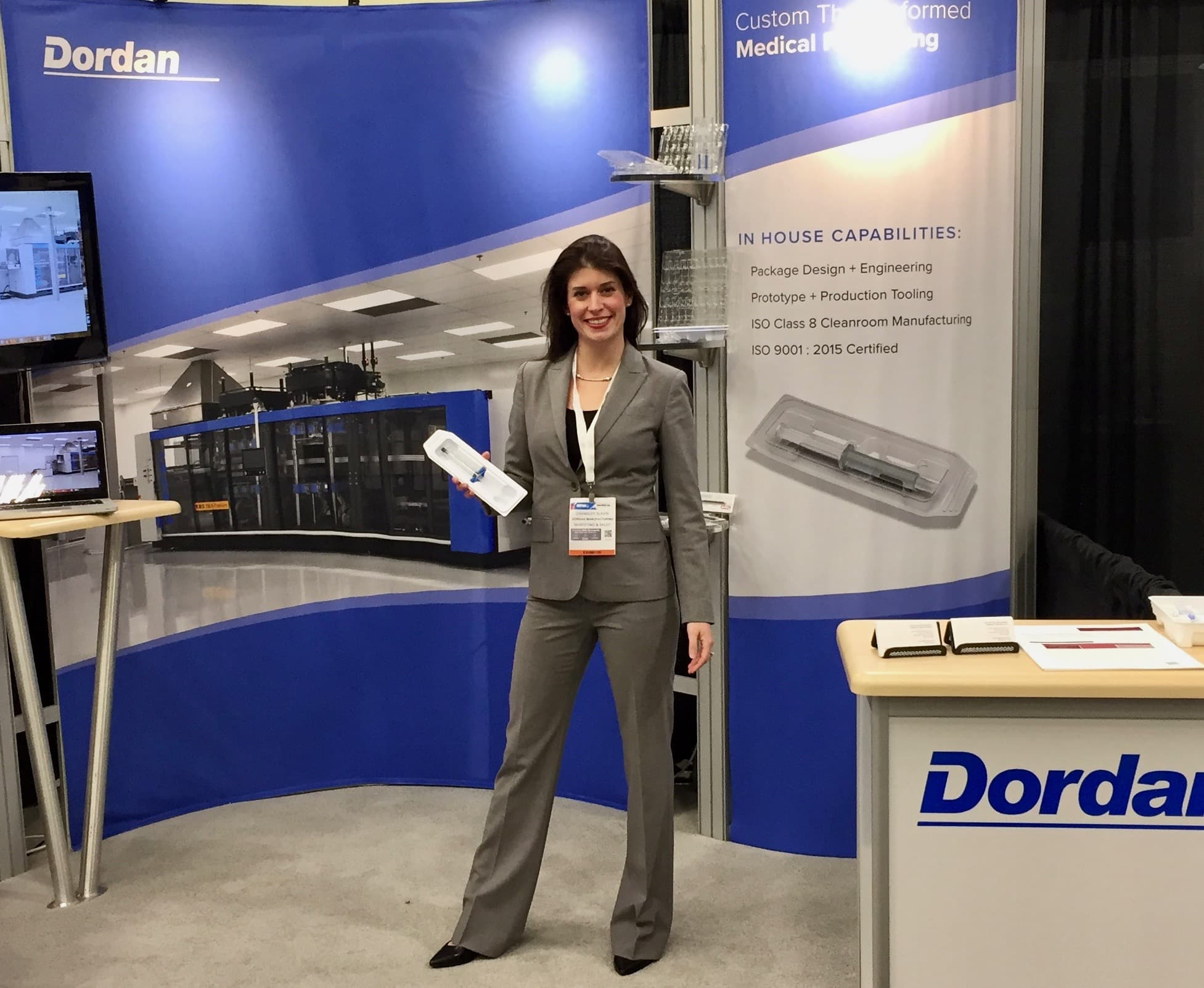 Dordan's booth at MD&M